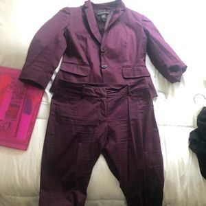 New York and Company Suit Burgundy 2pc